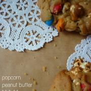 Popcorn Peanut Butter & M&M's Cookies