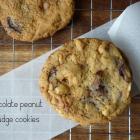 Chocolate Peanut & Fudge Cookies