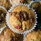 Pear, Cranberry & Roasted Walnut Muffins