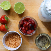 Roasted Strawberries with Whipped Coconut Cream