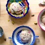 Banana, Strawberry & Pistachio Ice Cream
