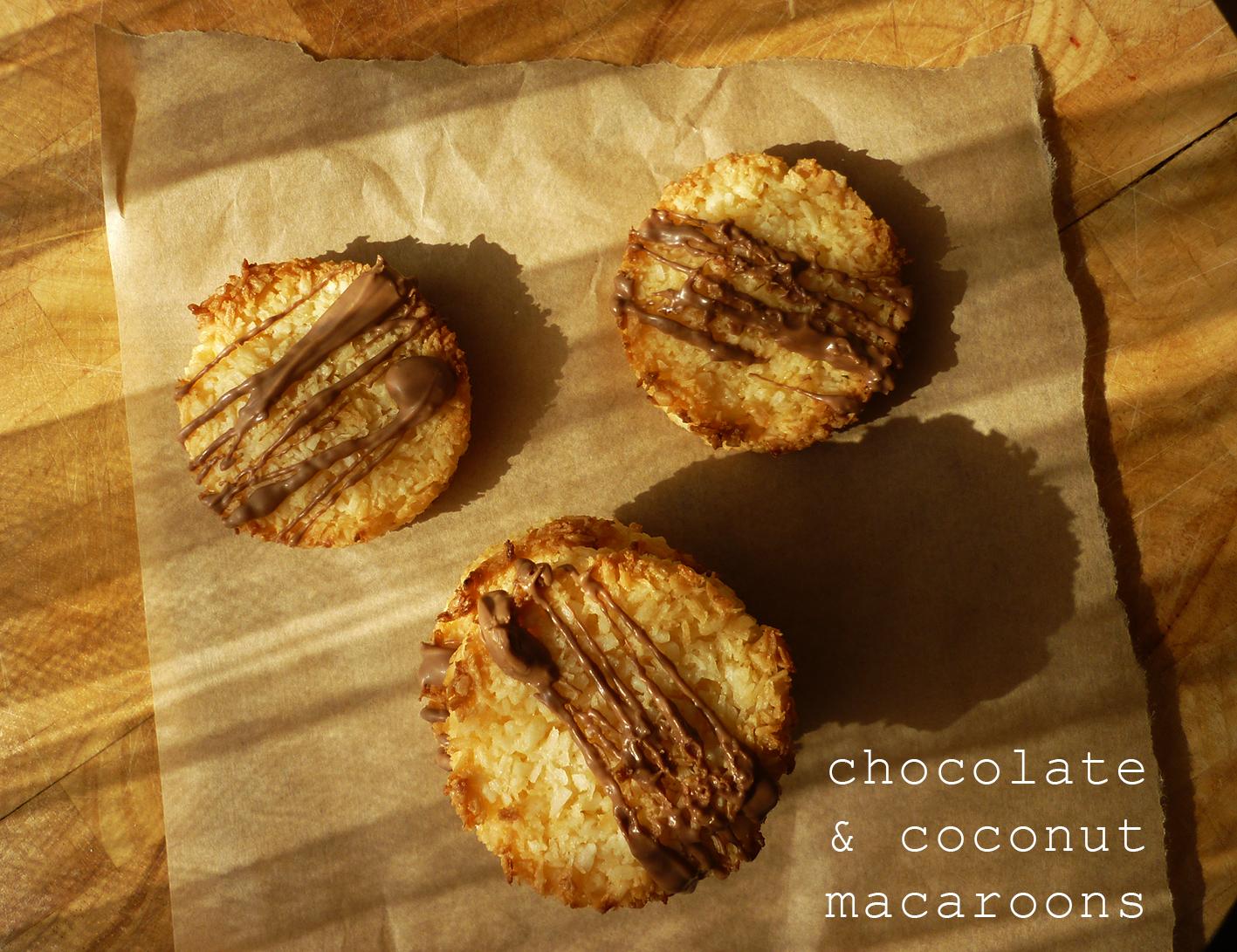 coconut & chocolate macaroons 9