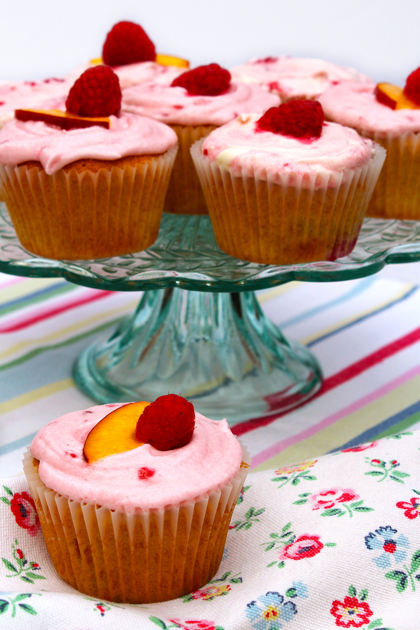 Peach Melba Cupcakes 2