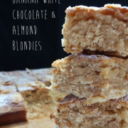 Banana White Chocolate & Almond Blondies