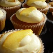 Orange and Nectarine Cupcakes