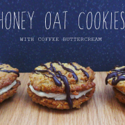 Honey Oat Cookies with Coffee Buttercream & Chain Bridge Honey Farm