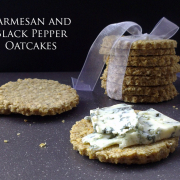 Black Pepper and Parmesan Oatcakes