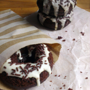 Mocha Doughnuts with Maple Glaze