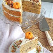 Pumpkin & Orange Cake with Cinnamon Mascarpone Icing